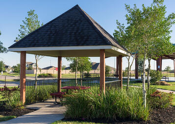 Enjoy lunch under a covered picnic ramada